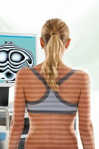 digitale Laseruntersuchung des Rückens